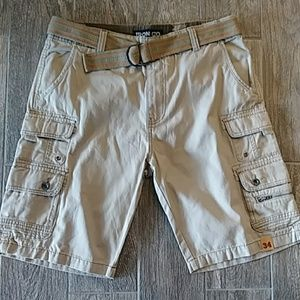 Iron Co. Belted Cargo Shorts. Size 34.